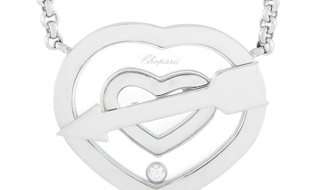 Chopard Chopard Happy Diamonds 18K White Gold Diamond Heart Pendant Necklace