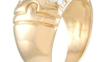 Bvlgari Bvlgari Parentesi 18K Yellow Gold Diamond Ring