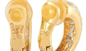 Cartier Cartier 18K Yellow Gold 1.50 ct Diamond Hoop Earrings
