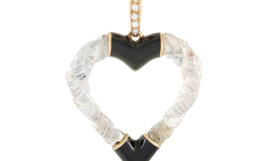 Boucheron Boucheron Vintage 18K Yellow Gold Diamond, Crystal and Onyx Necklace