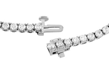LB Exclusive LB Exclusive 14K White Gold 4.25 ct Diamond Tennis Bracelet