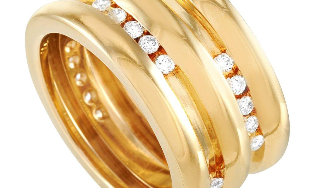 Chaumet Chaumet 18K Yellow Gold Diamond Ring