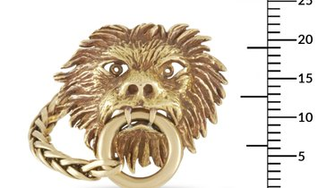 Boucheron Boucheron Vintage 18K Yellow Gold Lion Head Cufflinks