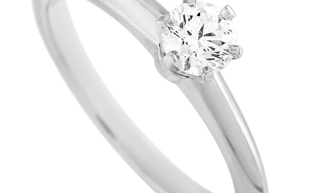 Tiffany & Co. Tiffany & Co. Platinum 0.29 ct Diamond Engagement Ring