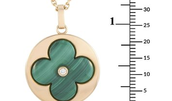 Louis Vuitton Louis Vuitton Color Blossom 18K Rose Gold Diamond and Malachite Large Blossom Medallio