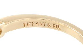 Tiffany & Co. Tiffany & Co. 18K Yellow Gold 0.22 ct Diamond and Emerald Ring