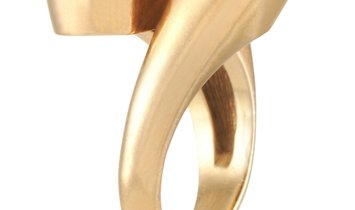 Boucheron Boucheron Vintage 18K Yellow Gold Onyx Ring