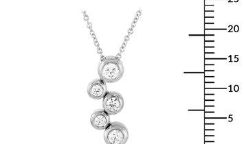 Tiffany & Co. Tiffany & Co. Bubble Platinum 0.50 ct Diamond Pendant Necklace