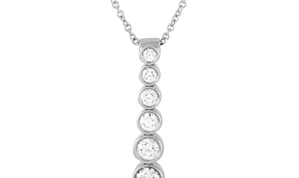 Tiffany & Co. Tiffany & Co. Jazz Platinum 0.45 ct Diamond Pendant Necklace