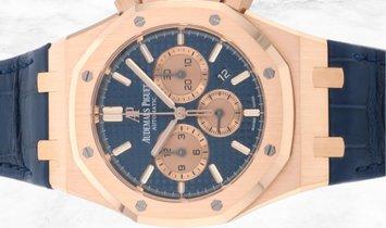 Audemars Piguet 26331OR.OO.D315CR.01 Royal Oak 18K Rose Gold Blue Dial