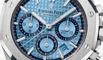 Audemars Piguet Royal Oak Chronograph 26317BC.OO.1256BC.01 White Gold Light Blue Dial