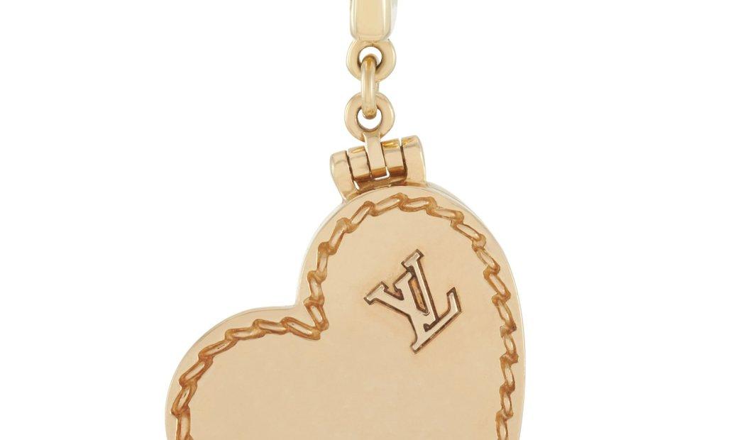 Louis Vuitton Louis Vuitton 18K Yellow Gold Heart Locket Charm Pendant