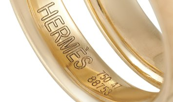 Hermès Hermès 18K Yellow Gold Diamond Ring