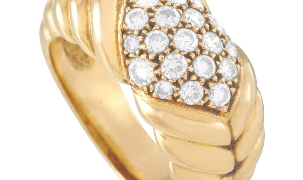 J. P. Bellin J. P. Bellin 18K Yellow Gold 0.82 ct Diamond Ring