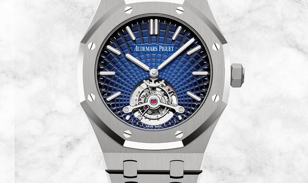 Audemars Piguet 26522TI.OO.1220TI.01 Royal Oak Tourbillon Extra-thin Titanium Smoked Blue Dial