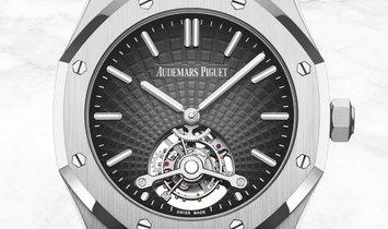 Audemars Piguet 26522BC.OO.1220BC.01 Royal Oak Tourbillon Extra-thin 18K White Gold Smoked Grey Dial