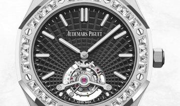 Audemars Piguet 26521BC.ZZ.1220BC.01 Royal Oak Tourbillon Extra-thin 18K White Gold Black Dial