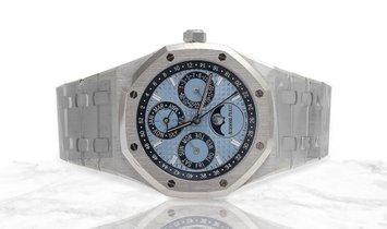 Audemars Piguet 26574PT.OO.1220PT.01 Royal Oak Perpetual Calendar Platinum Blue Dial