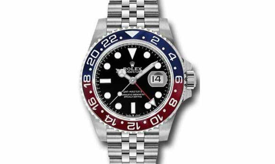 ROLEX GMT II PEPSI OYSTER MEN'S WATCH 126710BLRO