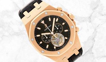 Audemars Piguet Royal Oak Tourbillon Chronograph 25977OR.OO.D002CR.01 Rose Gold Black Dial