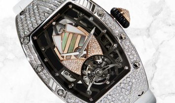 Richard Mille RM 71-01 Talisman White Gold Diamond and Mother of Pearl Set Dial Diamond Case