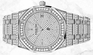"Audemars Piguet 15202BC.ZZ.1241BC.01 Royal Oak ""Jumbo"" Extra-Thin Diamond Set 18K White Gold"