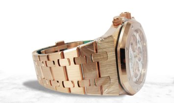 Audemars Piguet 26315OR.OO.1256OR.01 Royal Oak Chronograph 18K Rose Gold Silver Toned Dial