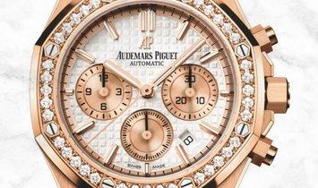Audemars Piguet 26315OR.ZZ.1256OR.01 Royal Oak Chronograph 18K Rose Gold Silver Toned Dial
