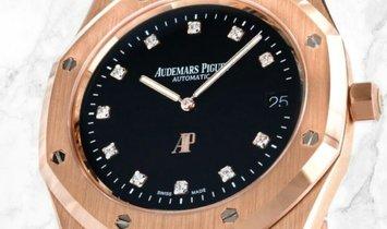 "Audemars Piguet 15207OR.OO.1240OR.01 Royal Oak ""Jumbo"" Extra-Thin 18K Rose Gold Black Onyx Dial"