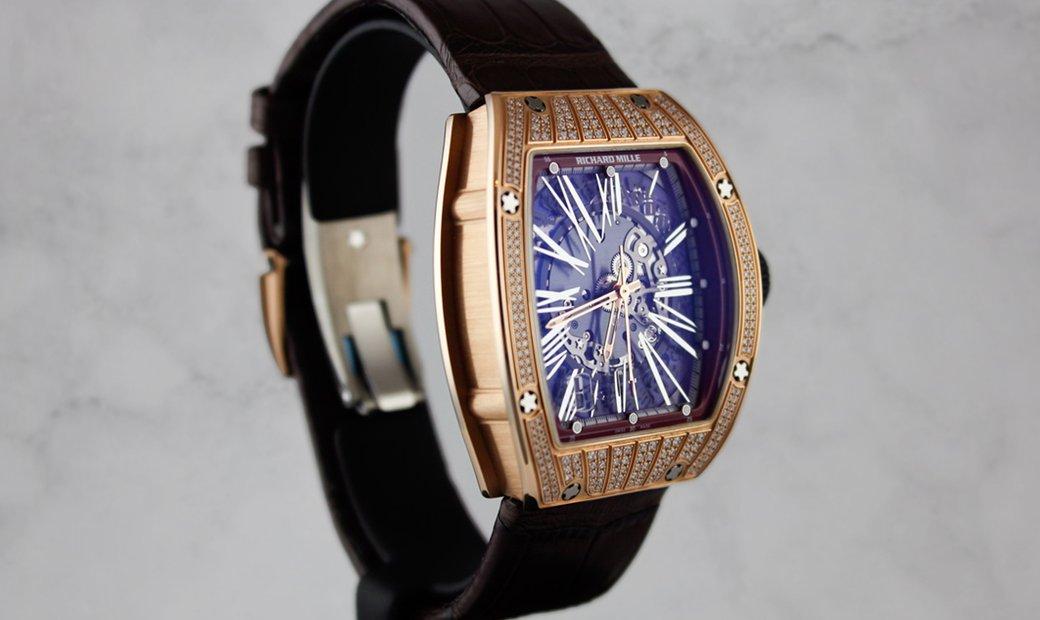 Richard Mille RM 023 Red Gold Diamond Set Case