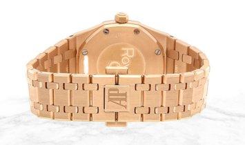 Audemars Piguet 67650OR.OO.1261OR.01 Royal Oak Quartz 18K Rose Gold Brown Dial