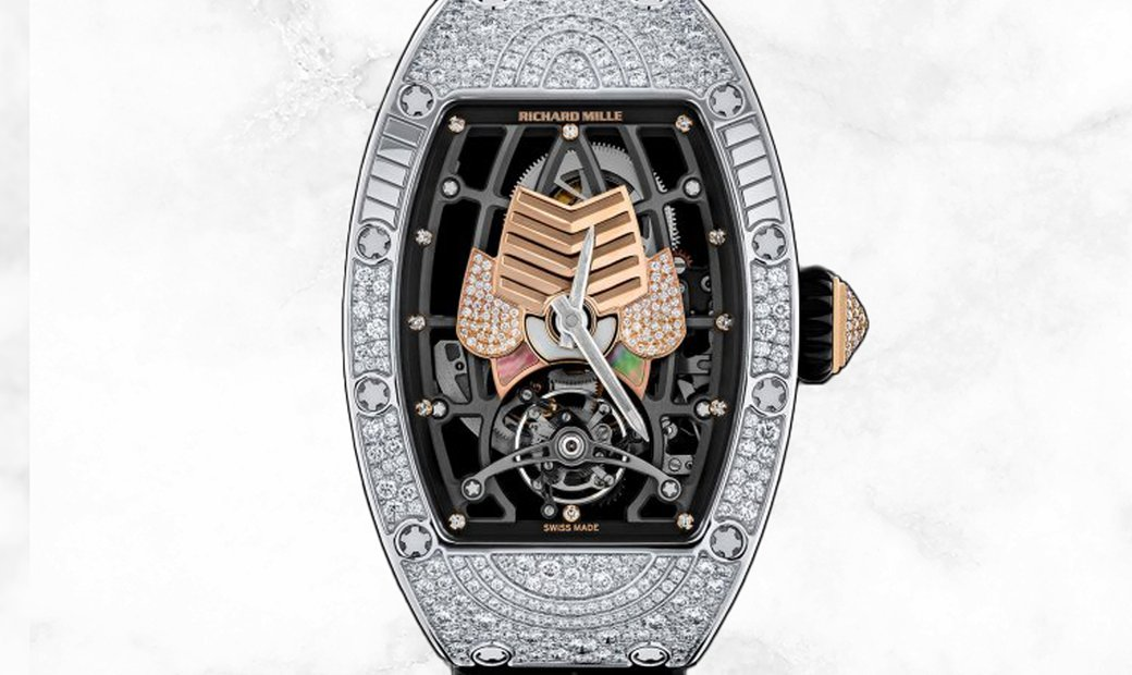 Richard Mille RM 71-01 Talisman White Gold Mother of Pearl and Diamond Set Dial Diamond Case