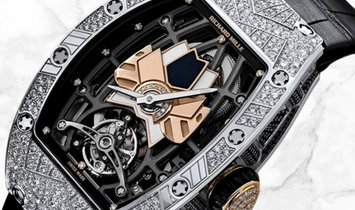 Richard Mille RM 71-01 White Gold with Onyx, Mother Of Pearl Dial and Diamond Set Case