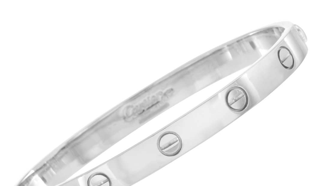 Cartier Cartier LOVE 18K White Gold Bracelet with Screwdriver Size 16