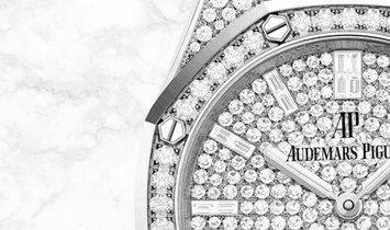 Audemars Piguet 67652BC.ZZ.1265BC.01 Royal Oak Quartz Diamond Set 18K White Gold