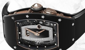 Richard Mille RM 037 Black Ceramic TZP Red Gold Diamond and Onyx Dial