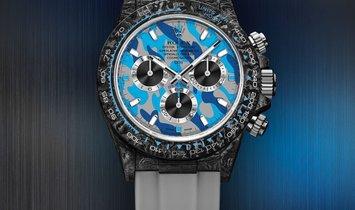 """Rolex DiW Cosmograph NTPT Carbon Daytona """"MILITARY BLUE"""" (Retail:EUR 43990)"""