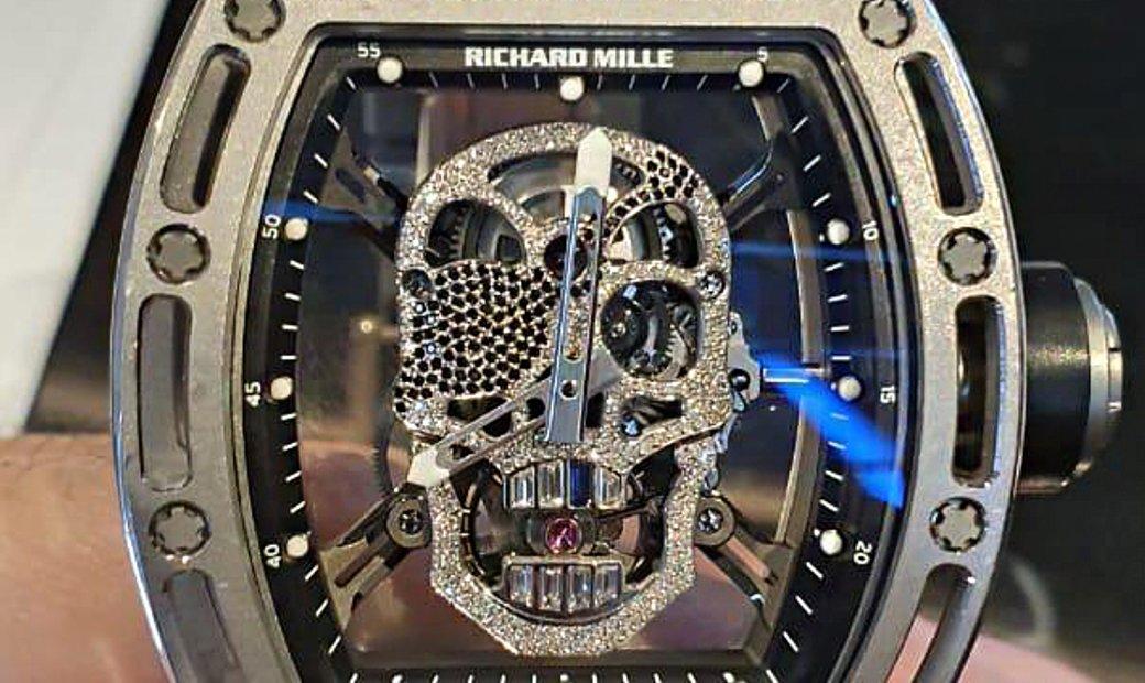 Richard Mille [2013 MINT][LIMITED 1 PIECE] RM 52-01 Skull White Gold Tourbillon