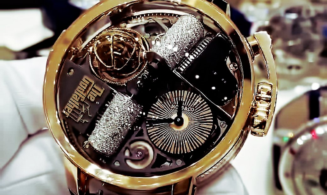 Jacob & Co. 捷克豹 [NEW] Opera Godfather Musical Watch With Icy Diamond Barrels OP110.40.AG.AC.ABALA