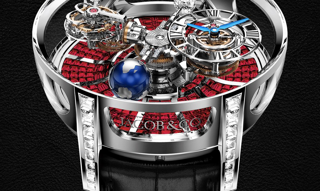 Jacob & Co. 捷克豹 [NEW] Astronomia Baguette White Gold Ruby AT800.40.BD.BR.A