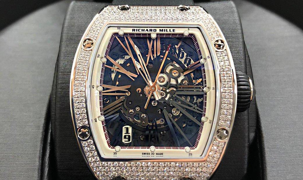 Richard Mille [NEW] RM 023 White Gold Full Set Diamonds