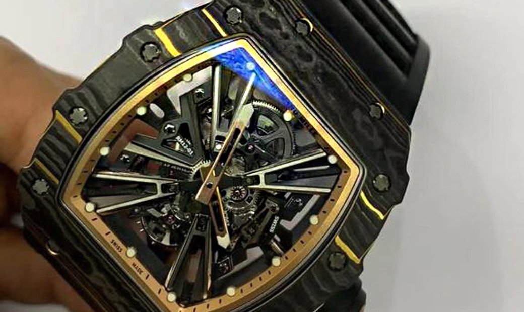 Richard Mille [NEW] Carbon and Gold TPT RM 12-01 Tourbillon