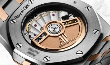 Audemars Piguet Royal Oak 77350SR.OO.1261SR.01 Stainless Steel and Pink Gold Silver Toned Dial