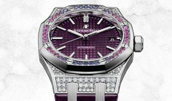 Audemars Piguet 15452BC.ZY.D600CR.01 Royal Oak Diamond Set 18K White Gold Purple Dial