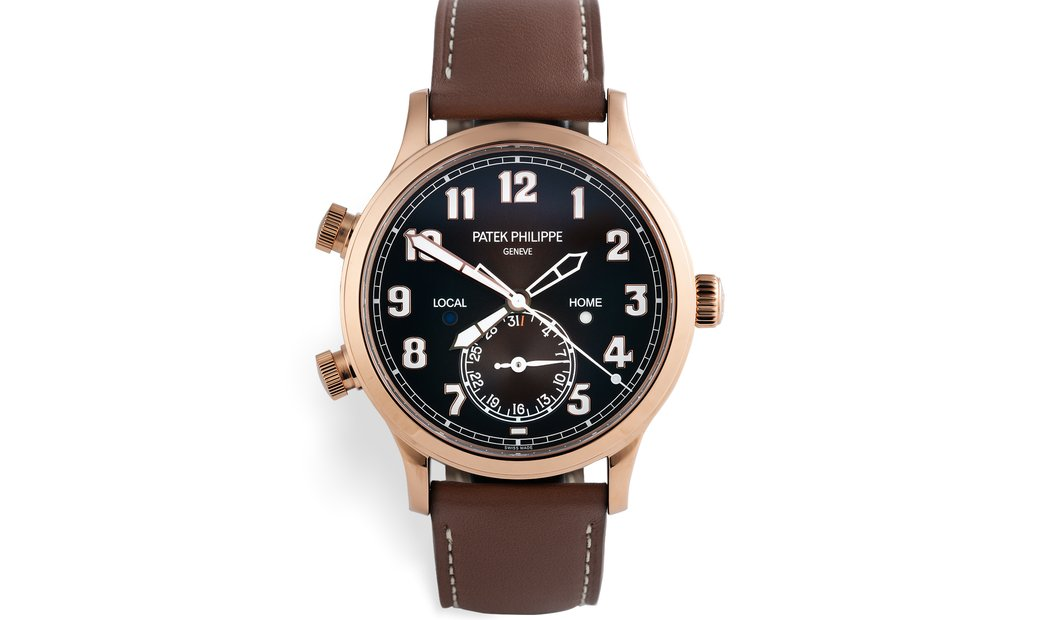 Patek Philippe 5524R-001 Calatrava Pilot Travel Time Rose Gold