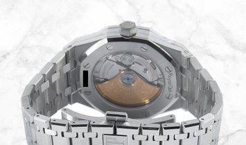 Audemars Piguet 15451ST.ZZ.1256ST.03 Royal Oak Stainless Steel Blue Dial Diamond Set Bezel