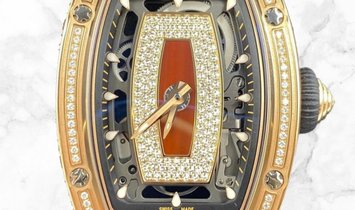 Richard Mille RM 07-01 Red Gold Medium Diamond Set with Jasper and Diamond Centrepiece
