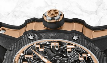 Richard Mille RM 033-02 Extra Flat Round Carbon and Red Gold Arabic Numerals