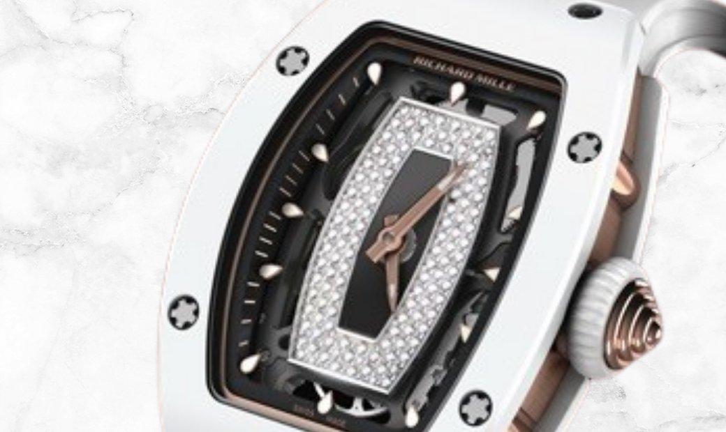 Richard Mille RM 07-01 White Ceramic ATZ Onyx and Diamond Centerpiece