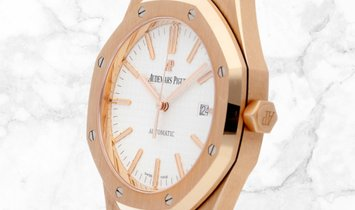 Audemars Piguet 15400OR.OO.D088CR.01 Royal Oak 18K Rose Gold Silver Toned Dial